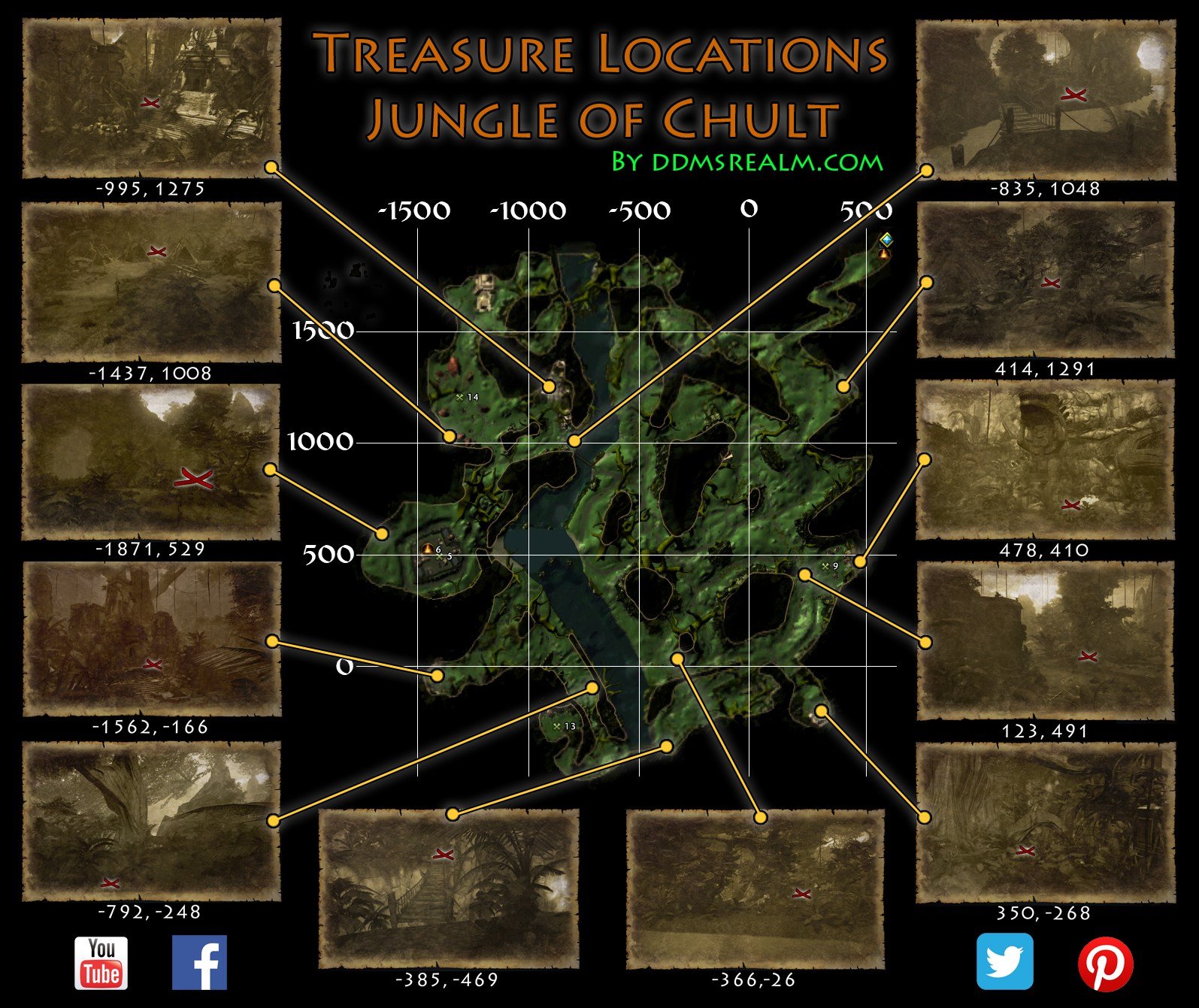 Carte Au Tresor Neverwinter Quartier De La Riviere.Soshenstar Guilde Myths